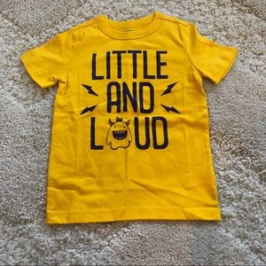Osh Kosh NWOT Little and Loud T Shirt, 3T